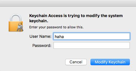 macOS Keychain Passwort