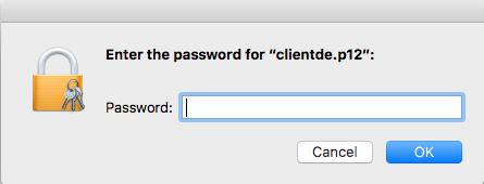 macOS Zertifikat Passwort