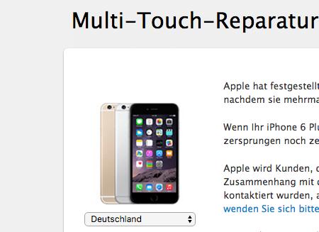 Multi-Touch-Reparaturprogramm für das iPhone 6 Plus