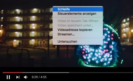 Schleife: YouTube Videos im Loop immer und immer wieder hören