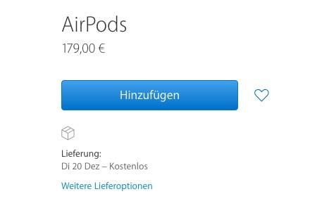 AirPods Preis