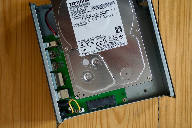 Replace: New hard drive in Freecom Quattro enclosure - mac&egg