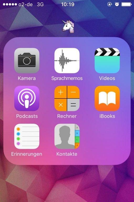 iOS Emoji als Ordnername