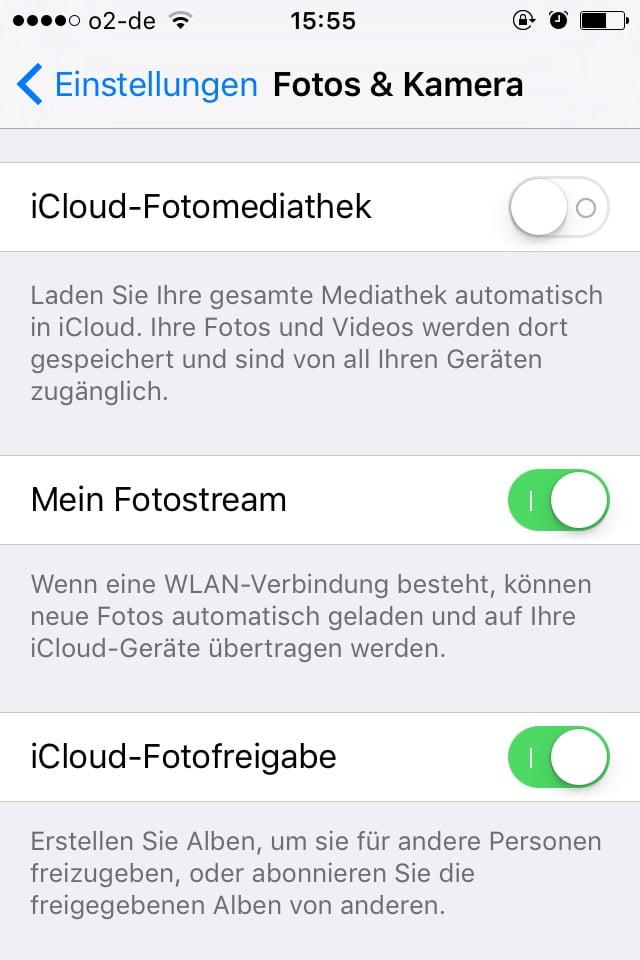 kann nicht nach iCloud gesichert werden