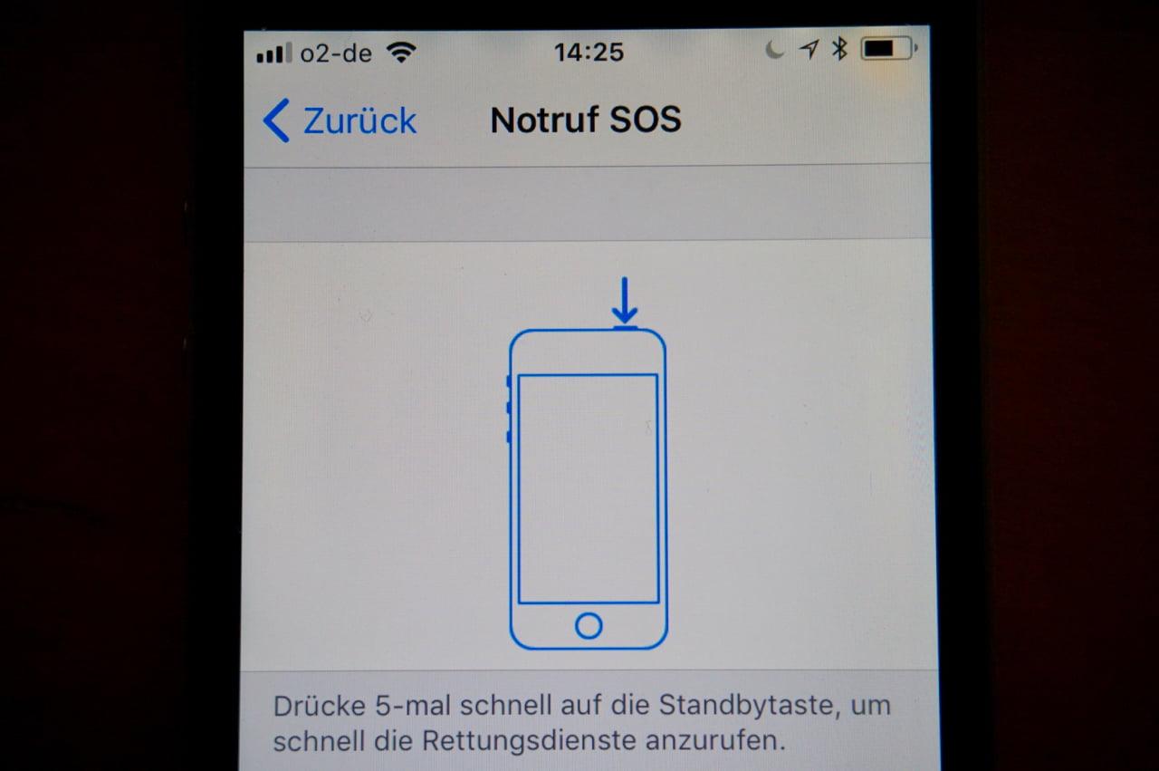 iPhone Notruf SOS