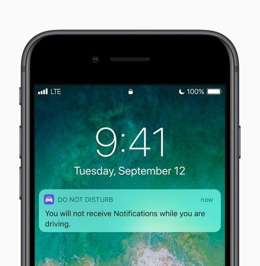 iOS 11 availability donot disturb