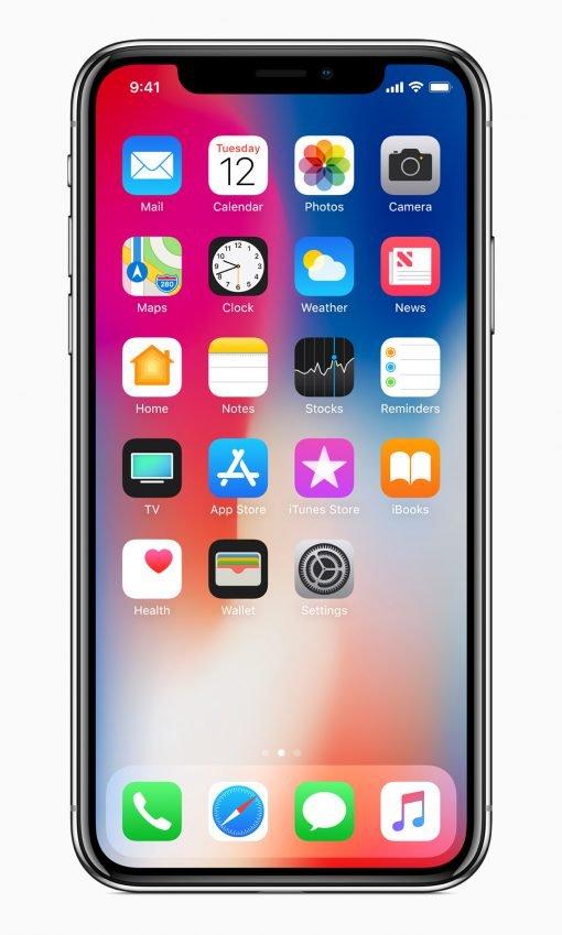 iphonex front homescreen