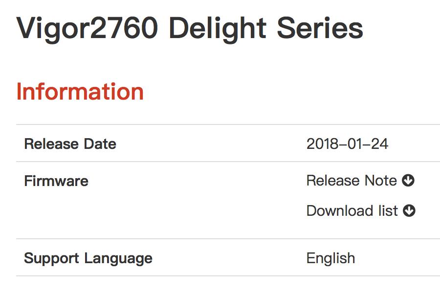 Firmware Update 3 8 7 für DrayTek Vigor 2760 - mac&egg