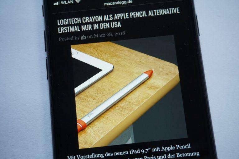 Dark Mode mit iOS 11.3 im Browser nutzen