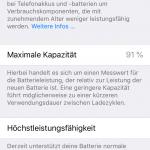 iOS 11.3 Batteriezustand misst Leistungsfähigkeit nicht Kapazität
