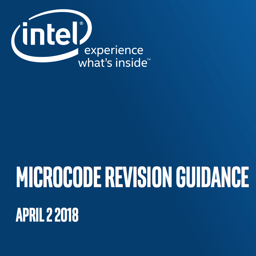 intel Microcode Updates