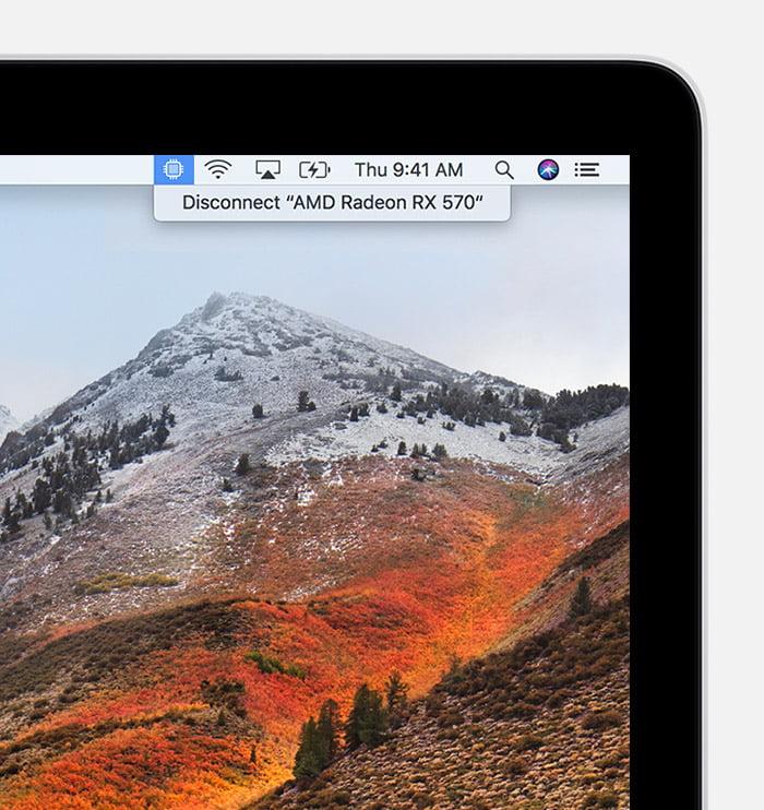 macos high sierra macbook egpu disconnect status bar 1