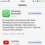 WhatApp lässt jetzt das Exportieren von Account Informationen zu