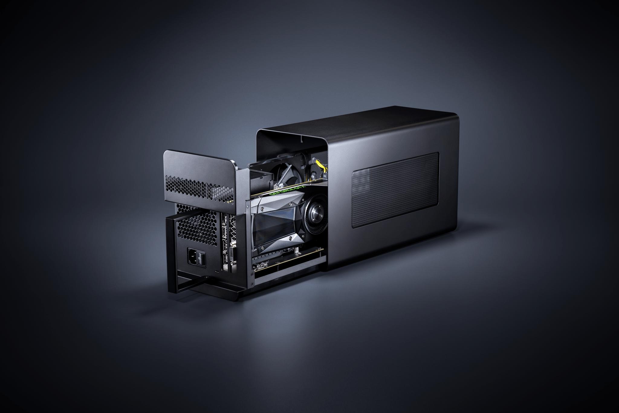 Razer Core X 2018 Studio Open with GPU preview