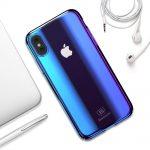 Glänzende bunte Hüllen für das iPhone Xs und X