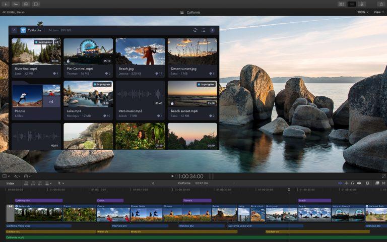 Updates für iMovie, Final Cut Pro, Motion, Compressor