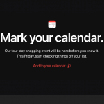 Apple kündigt vier Tage lang Angebote an - ab Freitag