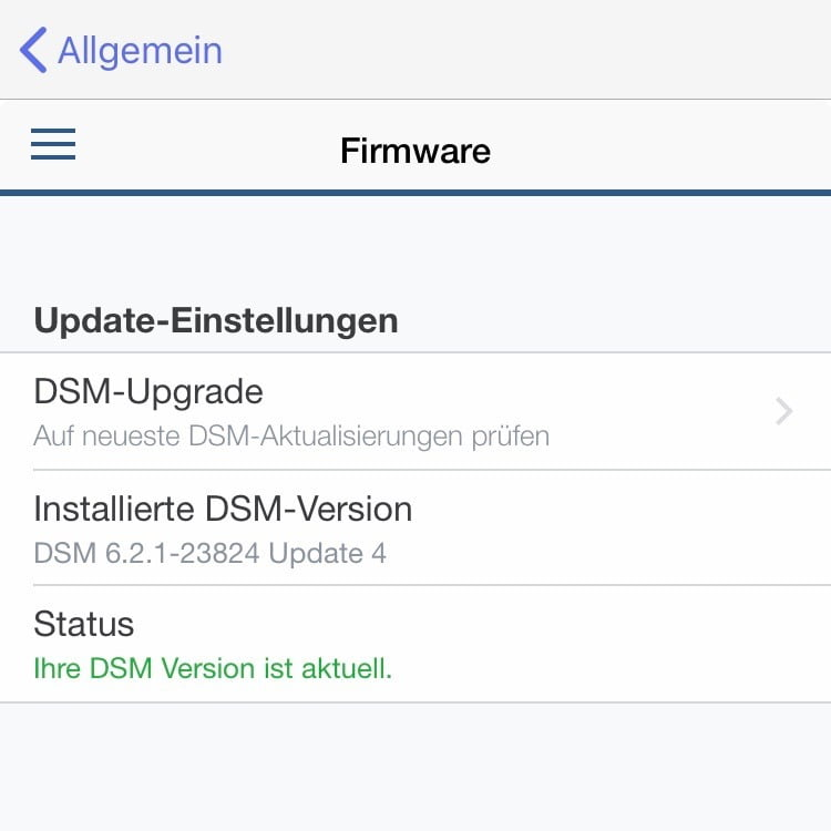 synology update