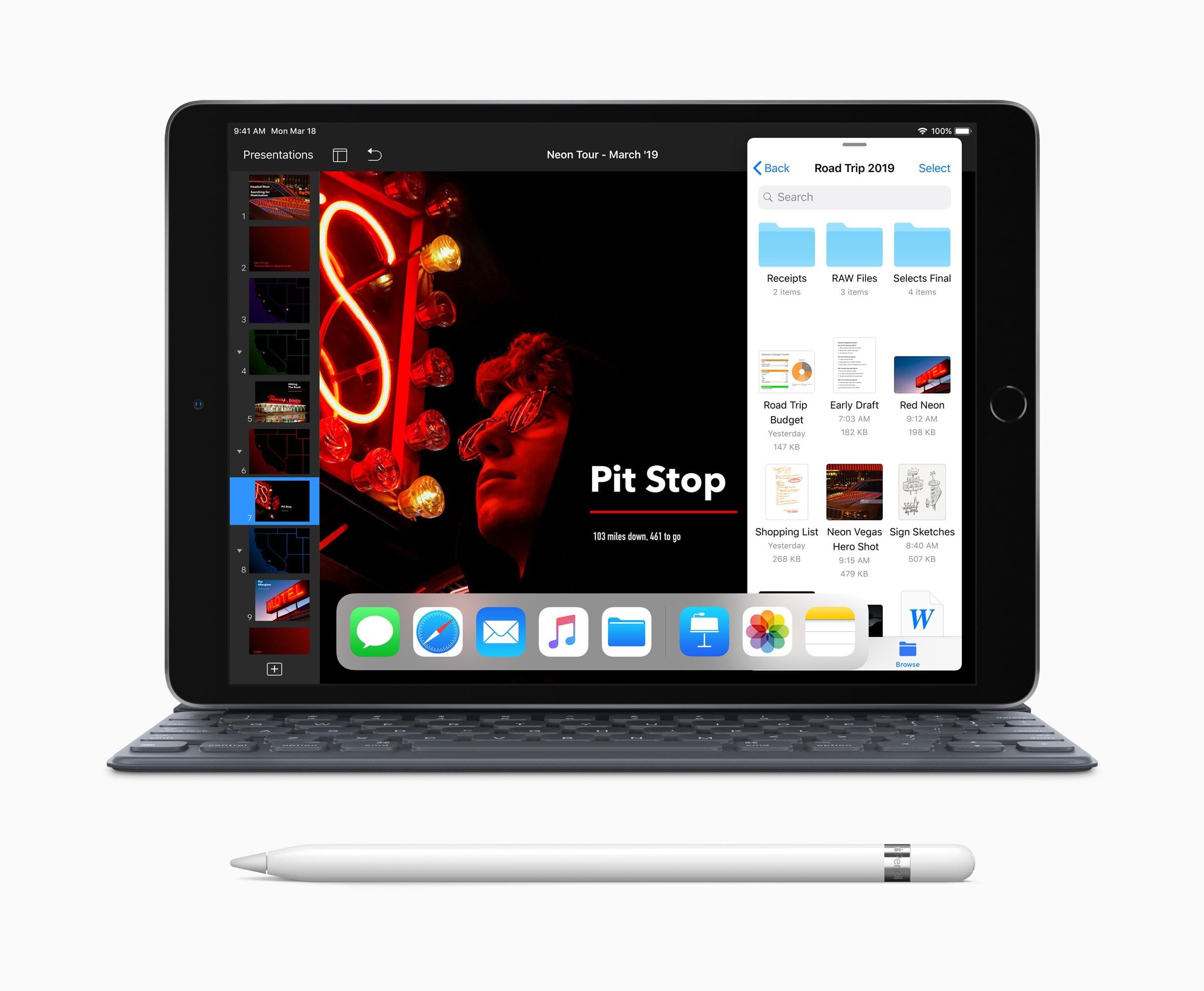New iPad Air with Smart Keyboard Apple Pencil 03192019