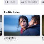 Der Apple TV App fehlt ein Landscape Mode