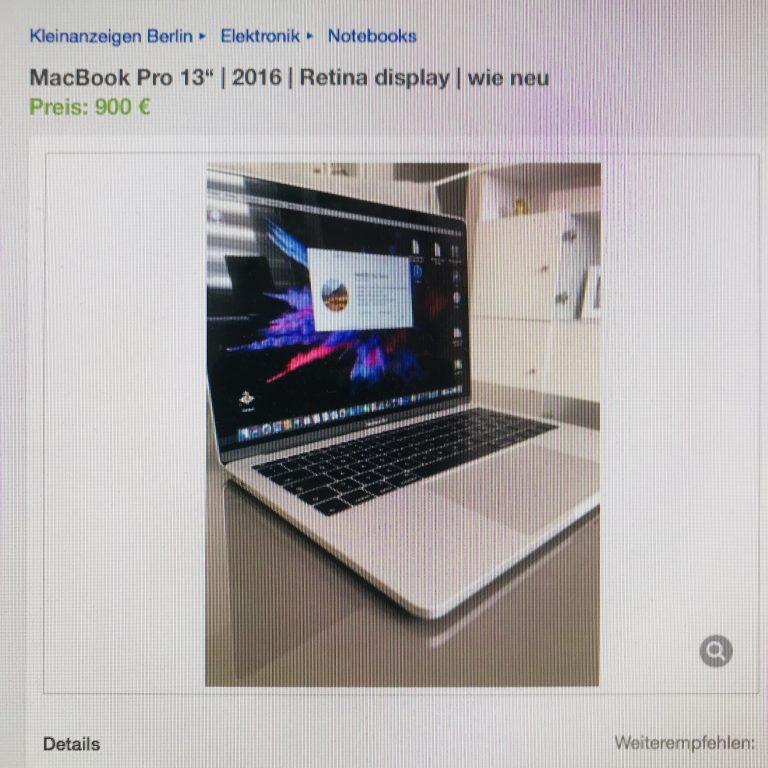 2019: Das ideale Schnäppchen MacBook ist ein gebrauchtes Pro aus 2016