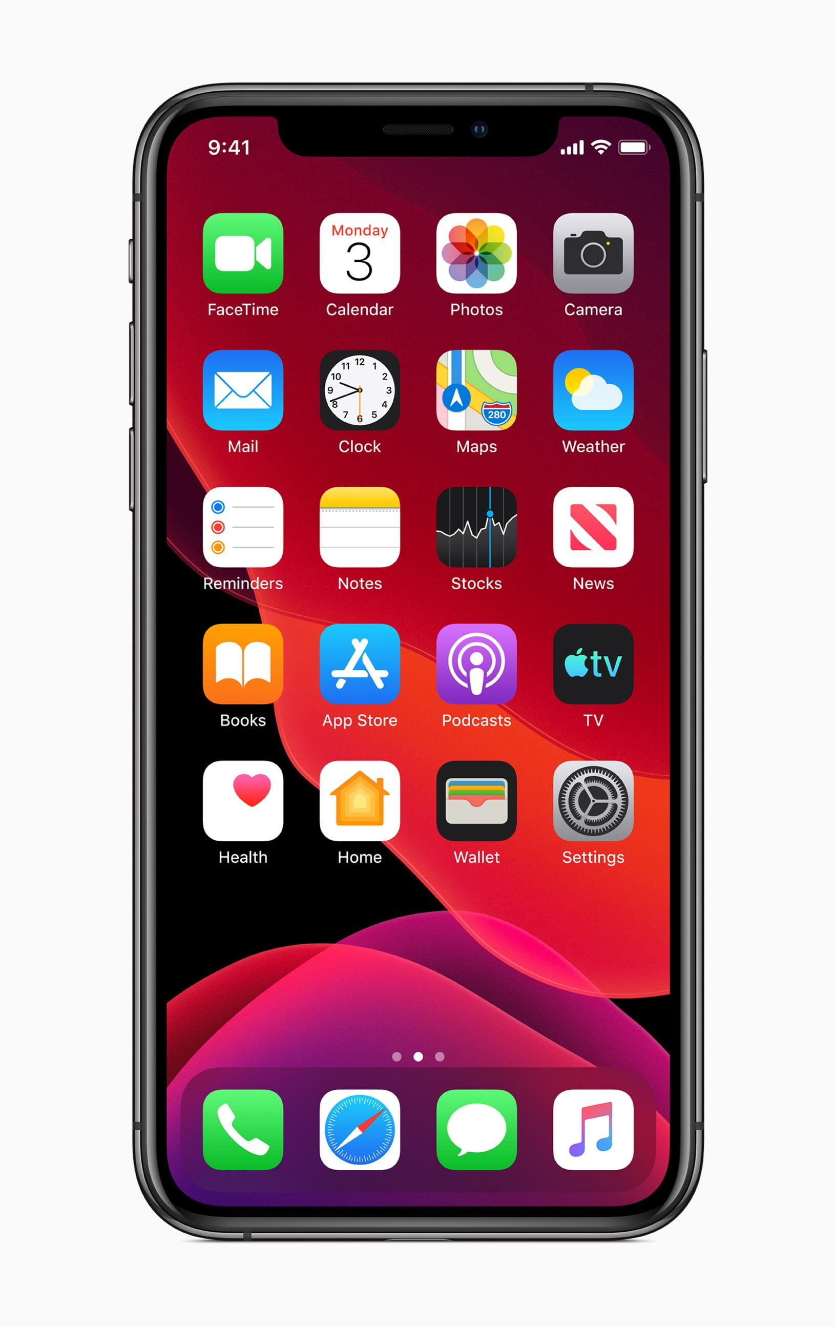 Apple ios 13 home screen iphone xs 06032019