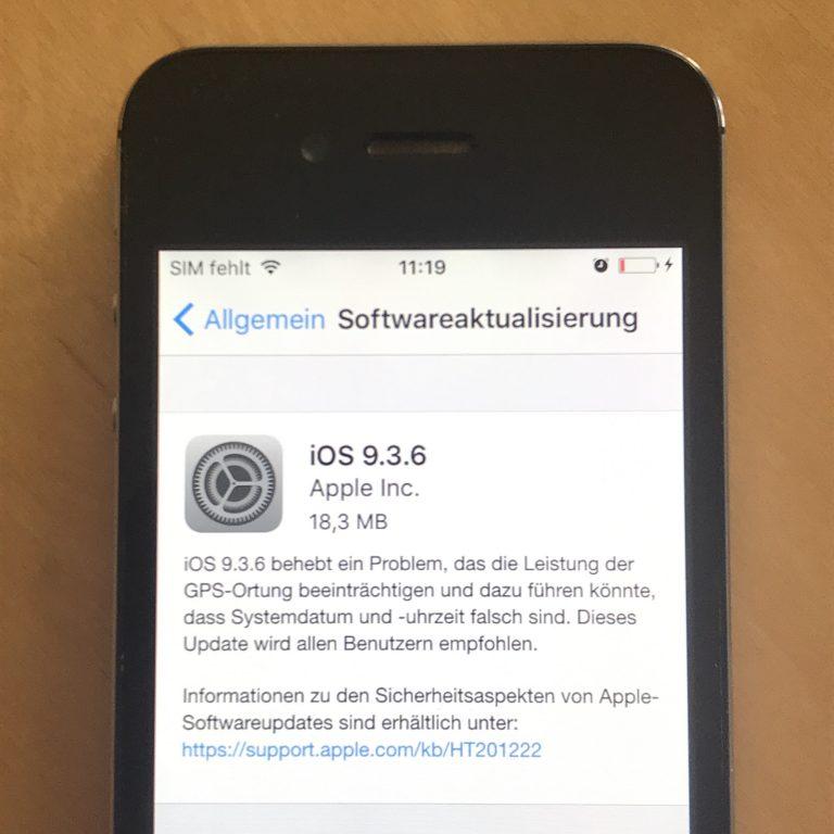 Updates für alte iPhone 4s, 5 und iPad 2, 3, 4 und mini 1