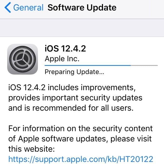 Sicherheitsupdates für ältere Geräte mit iOS 12