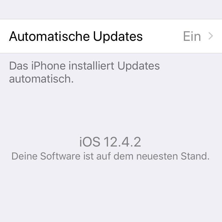 Apple Watch 4: watchOS 5.3.2 Update unter iOS 12.4 nicht möglich