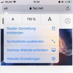 iOS 13: Schriftgröße im Safari Browser verändern und vergrößern