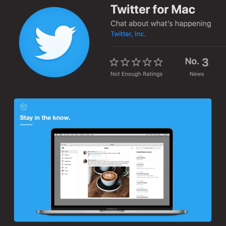 Offizielle Twitter App jetzt als Catalyst App auf macOS Catalina