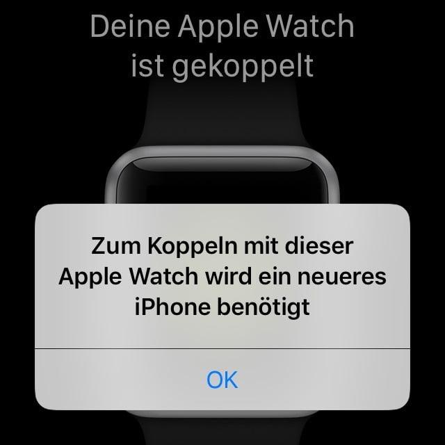 Vorsicht: Apple verbietet koppeln von Apple Watches mit alten iPhones