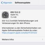 iOS und iPadOS 13.2.3 erschienen