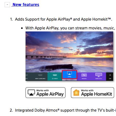 Sony TVs von 2018 und 2019 bekommen AirPlay 2 Update