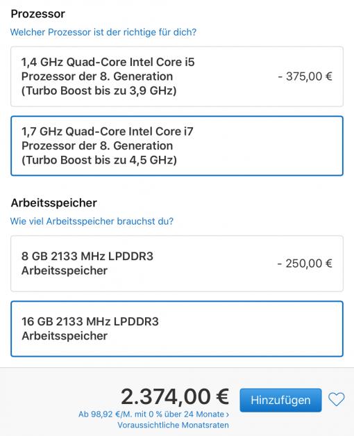 Macbook Pro 2 Thunderbolt Ports Konfiguration