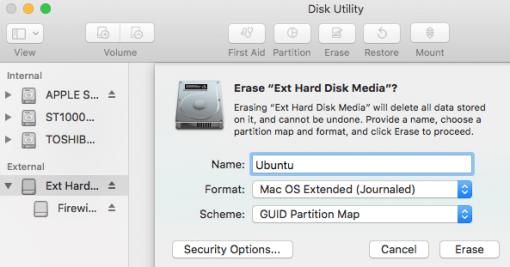 Externe Festplatte formatieren