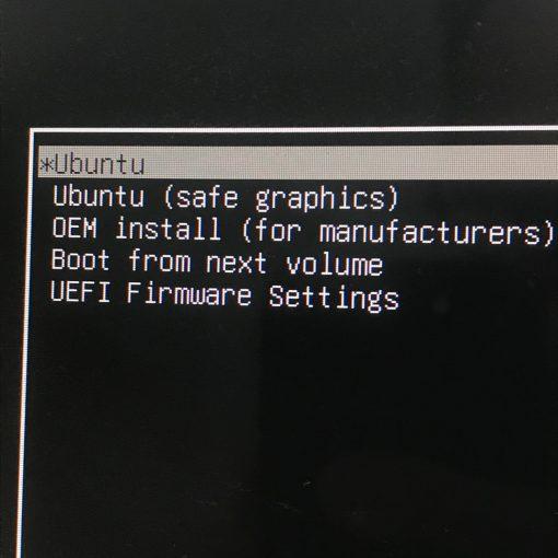 Unbuntu Boot Menu