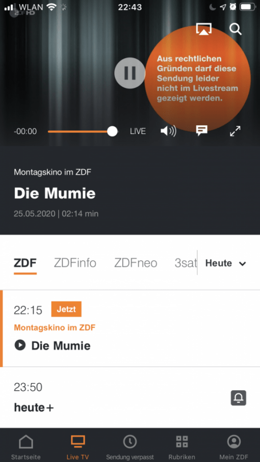 Zdf Livestream In Zdf App