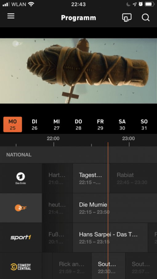 Zdf Livestream In Zattoo App