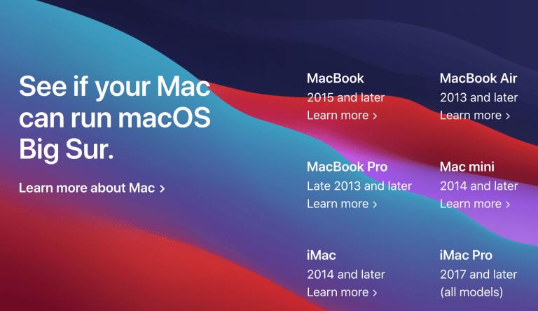 Big Sur Beta Patcher für die Installation auf alten Macs