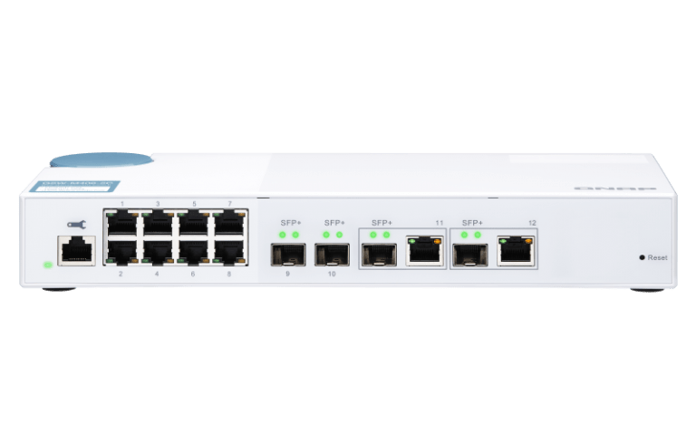 10 Gbit/s Switche mit SFP+ und 2,5, 5, 10 Gbit RJ45 Ports von Qnap