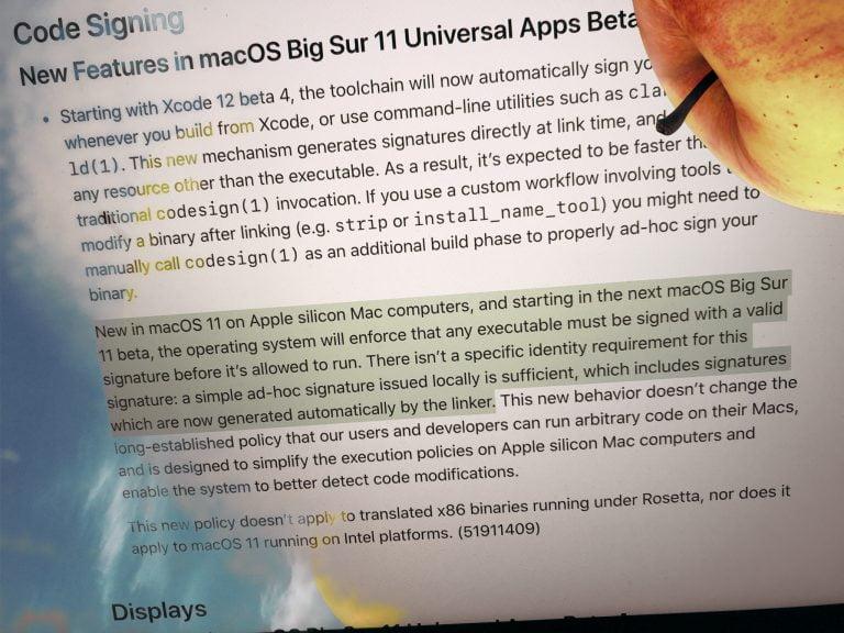 ARM Macs starten nur noch signierte Apps