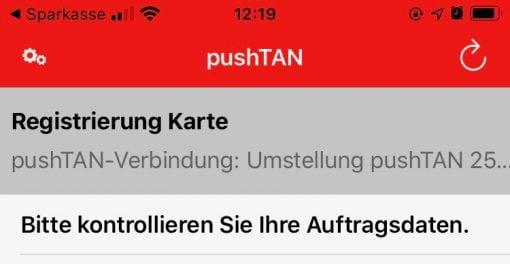 Push TAN Aktivierung Apple Pay