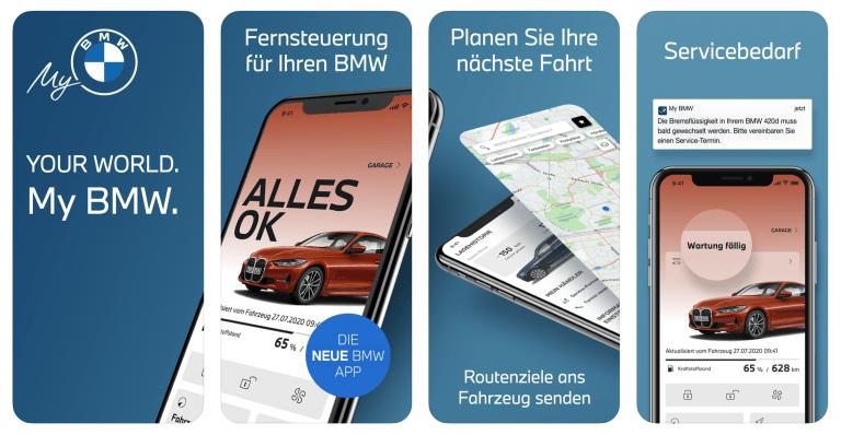 My BMW App ersetzt alte Connect Variante fürs Fahrzeug