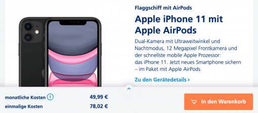 o2 iPhone AirPods