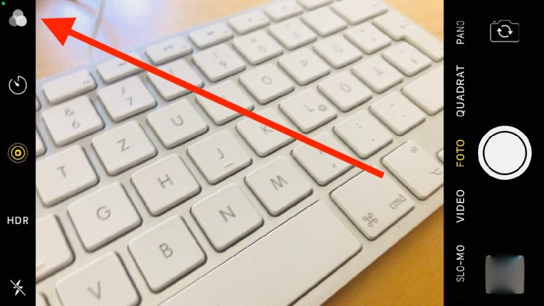 Was bedeutet der kleine grüne orange Punkt beim iPhone?