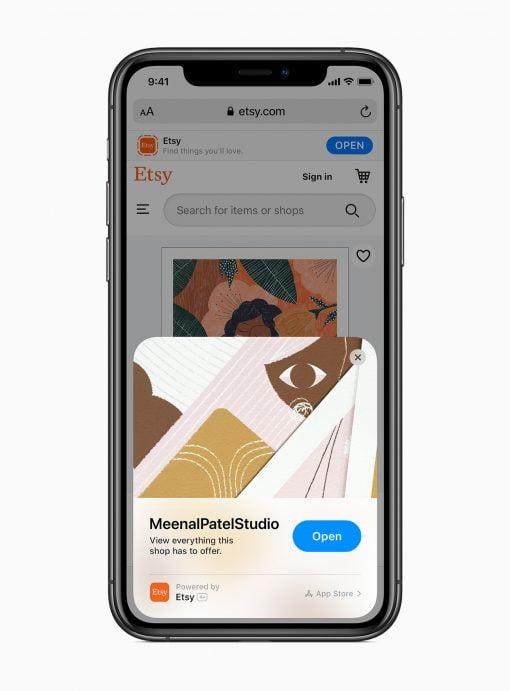iOS 14 etsy App