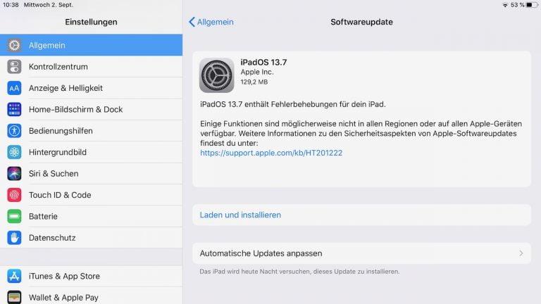 iOS und iPadOS 13.7: Sicherheitsupdate und besseres Covid Tracking