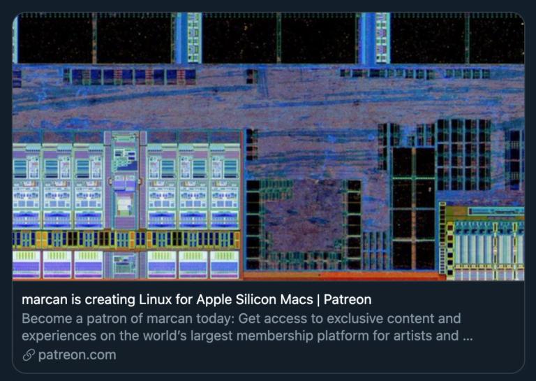 Patreon Projekt um Linux auf den M1 Mac zu bringen